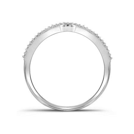 10kt White Gold Womens Round Diamond Cluster Bridal Wedding Engagement Ring Band Set 1/4 Cttw - image 2 of 3