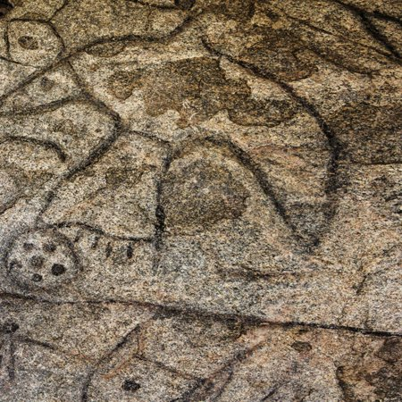 Native American Rock Art - Granite Boulder, Native American Petroglyphs, Writing Rock, North Dakota, USA Print Wall Art By Chuck Haney