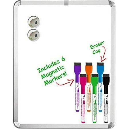 - Kedudes Magnetic 11'' x 14'' Dry Erase Whiteboard. Includes 6 Magnetic Dry Erase Markers, Assorted Colors. Great For Fridge, Locker, and More!