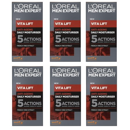 L'Oreal Men's Expert Vita Lift Anti Aging Daily Moisturizer, 50 ml (1.7 Oz) (Pack of (Skin Care Experts Microcurrent Face Lift Reviews)