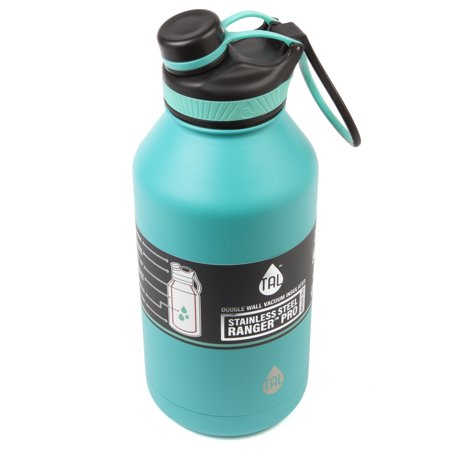 67d098cdf4 ... Tal 64 Ounce Double Wall Vacuum Insulated Stainless Steel Ranger Pro  Teal Water Bottle ...