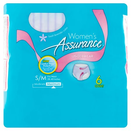 Assurance Incontinence Underwear For Women  Maximum  S M  6 Ct