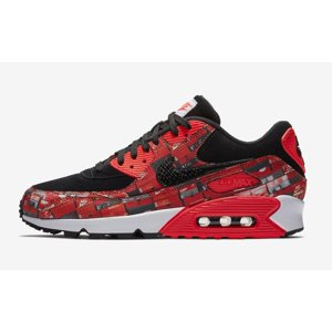 Mens Nike x Atmos Air Max 90 Print We Love Nike Black Bright Crimson W