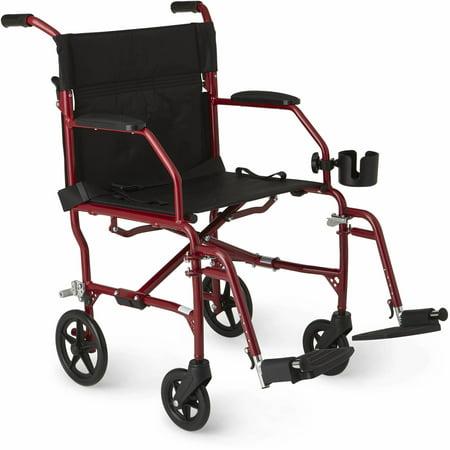 Medline Ultralight Transport Wheelchair with 19