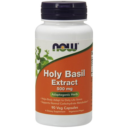 NOW Supplements, Holy Basil Extract 500 mg (Holy Basil is a Sacred Plant in Ayurveda), 90 Veg