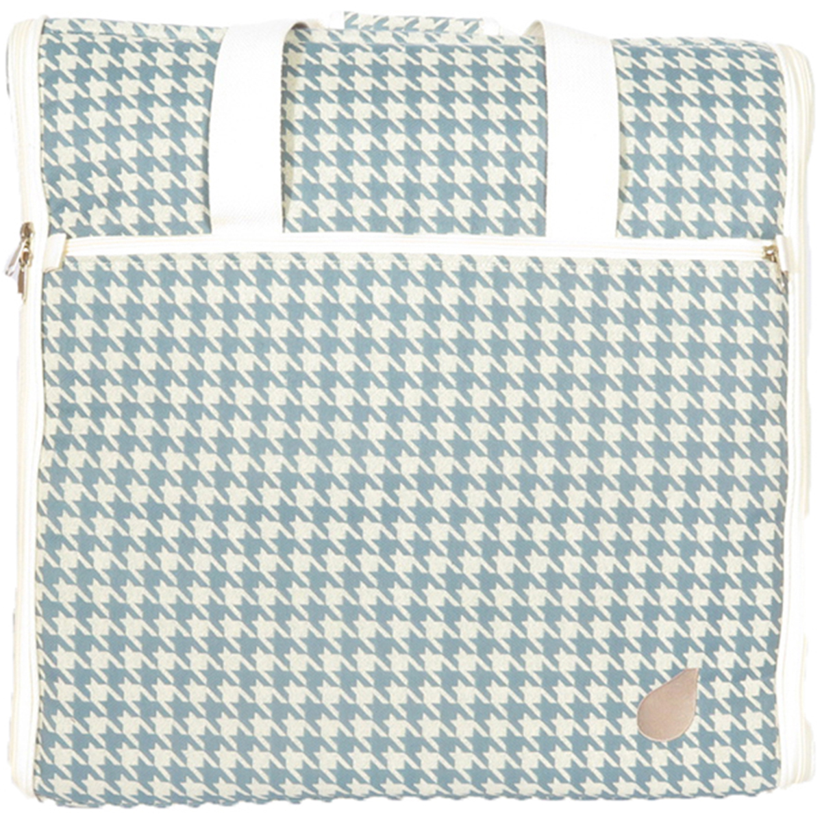 "23"" Embroidery Arm Bag Designer Series 23""X21""X7""-Sabrina - Blue Houndstooth"