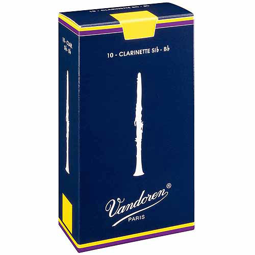 Vandoren Traditional Bb Clarinet Reeds, Box of 10, Strength 3