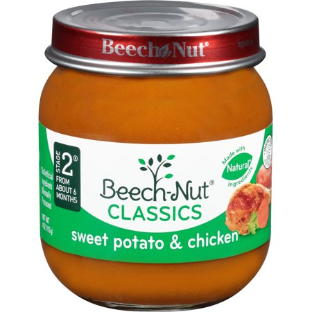 Beech Nut Classics Stage 2 Sweet Potato Chicken Baby Food 4 Oz