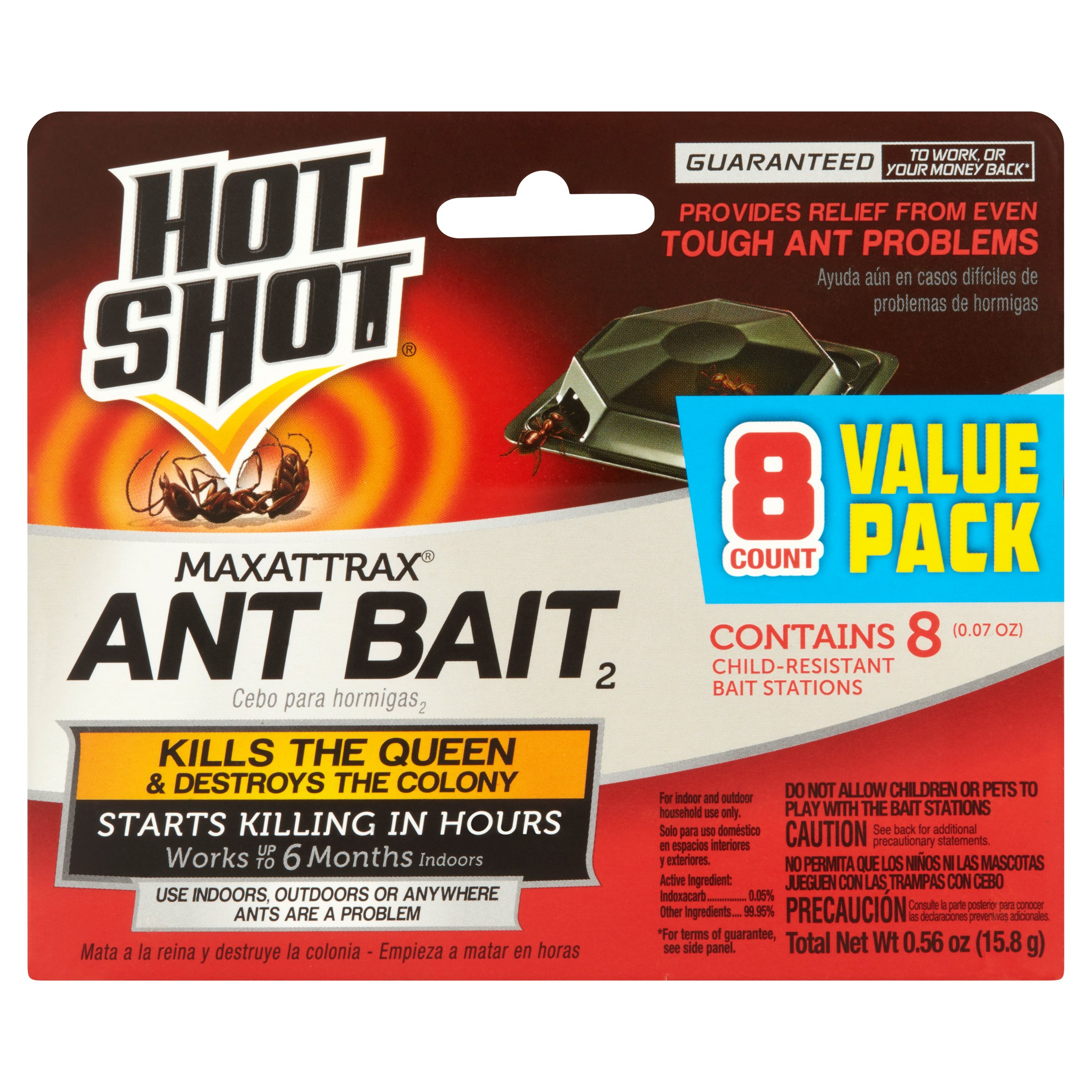 Hot Shot MaxAttrax Ant Bait Child-Resistant Stations, 8-Count