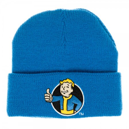 Beanie Cap - Fallout - Vault Boy Blue Single Layer Cuff New Licensed kc4195fot (Fall Out Boy Valentine Cards)