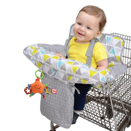 Nuby Shopping Cart Cover - Geometric Triangle (Bully Cover)