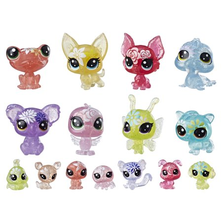 Littlest Pet Shop Blooming Bouquet, 16 pets, part of the LPS Petal Party - Littlest Pet Shop Cupcake Rings