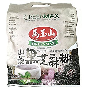 One Free NineChef Spoon + Greenmax Yam & Black Sesame Instant Cereal (13 Servings  15.9 Oz.) (6 Bag)