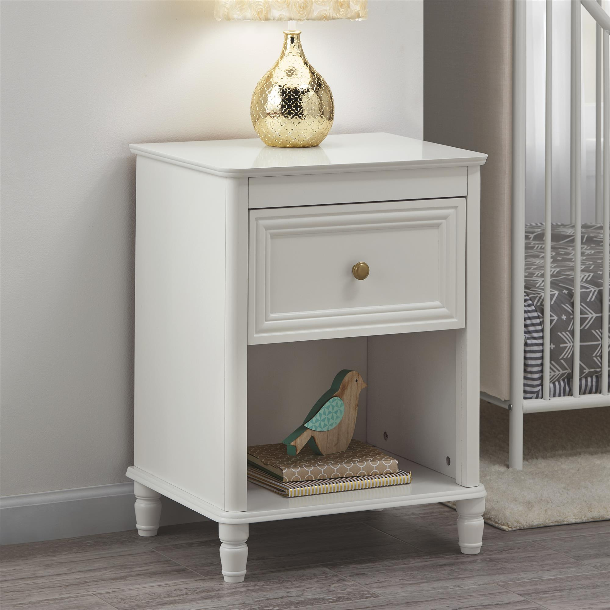 Little Seeds Piper Nightstand, Cream