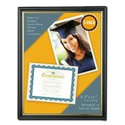 Universal All Purpose Document Frame, 8 1/2 x 11 Insert, Black/Gold, 3/Pack -UNV76849