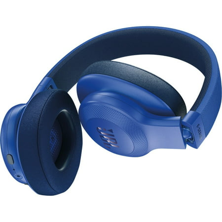 ff6cac2a0d4 JBL E55BT Wireless Over-ear Headphones - Stereo - Blue - Mini-phone ...
