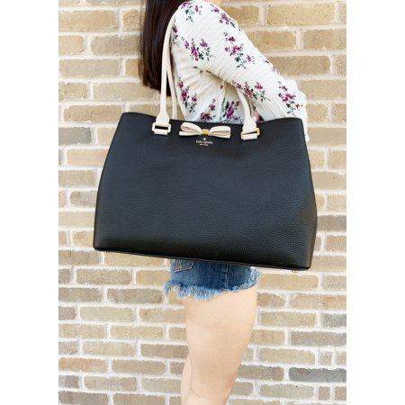 Kate Spade Black Leather (Kate Spade Henderson Street Maryanne Black Tote Shopper Pebble Leather)