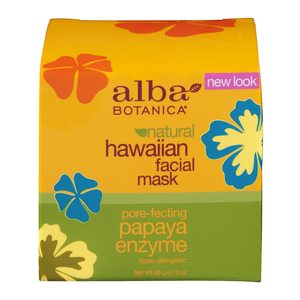 Alba Botanica Natural Hawaiian Facial Mask Papaya Enzyme, 3.0 OZ