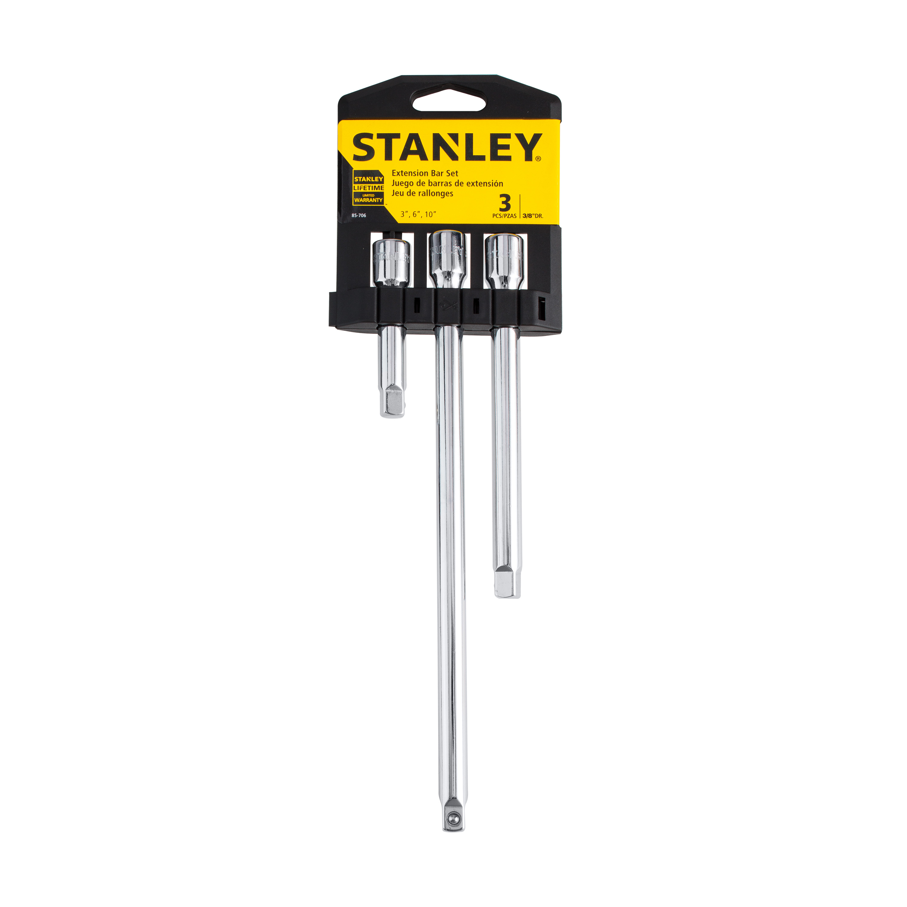 STANLEY 85-706 - 3 Piece 3/8'' Extension Bar
