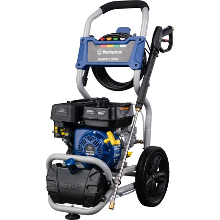 Westinghouse WPX3200 Gas Powered Pressure Washer - 3200 PSI and 2.5 GPM - Soap Tank and Five Nozzle Set - CARB Compliant
