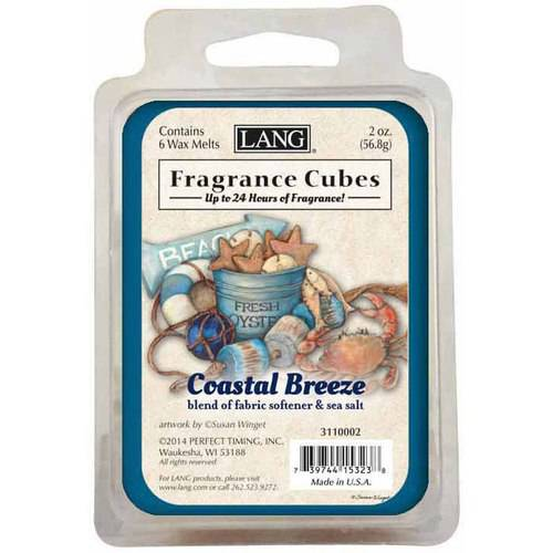 LANG Coastal Breeze 2-Ounce Fragrance Cubes Scented with Blend of Fabric Softener and Sea Salt