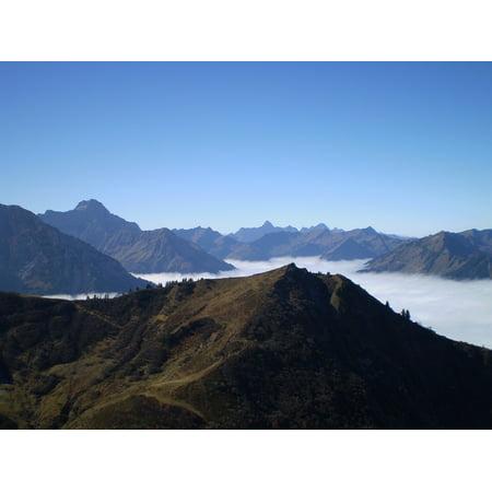 Laminated Poster Deep Mist Alpine Oberallg??u Allg??u Hip Things Horn Poster Print 11 x 17