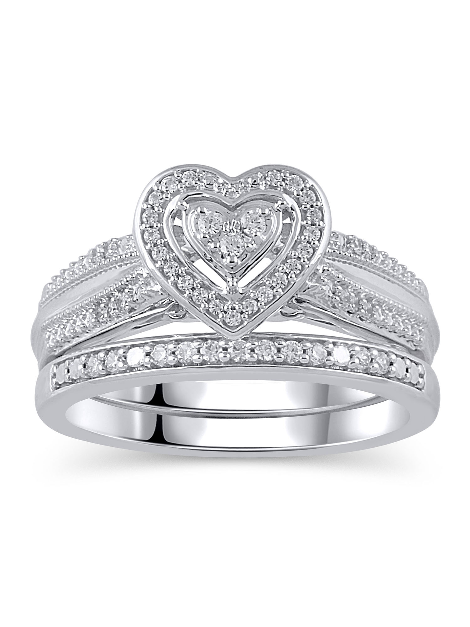 Forever Bride Wedding Ring Sets Walmartcom