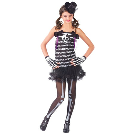 Girls Skeleton Costume - Skeleton Sweetie Outfit - Skeleton Outfit