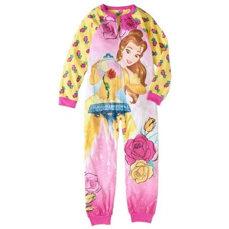 Disney Beauty & the Beast Girls Belle Blanket Sleeper Union Suit