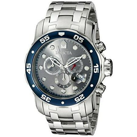 Invicta Men's 80059 Pro Diver Chronograph 48mm Swiss Quartz Silver SS Watch Chronograph Ss Case