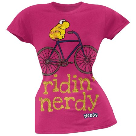 Nerds - Ridin Nerdy Juniors T-Shirt (Trendy Nerd)