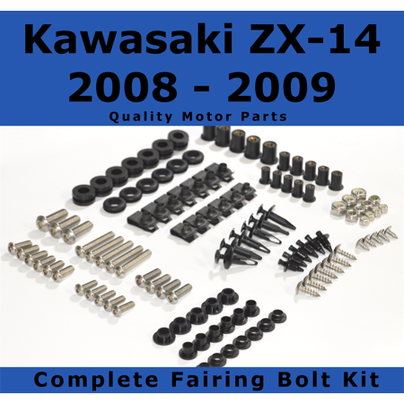 Complete Fairing Bolt Kit for Kawasaki Ninja ZX-14 2008 - 2009 body screws fasteners