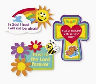 Trust in the Lord Magnet Craft Kit by Oriental Trading Company