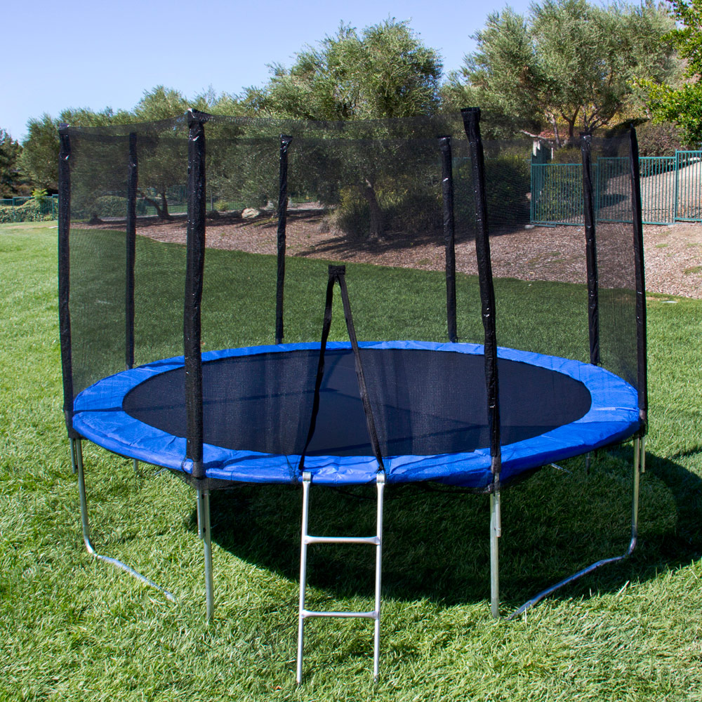 Ktaxon Outdoor 12 feet Round Trampolines with Safety Enclosure Net and Spring Pad