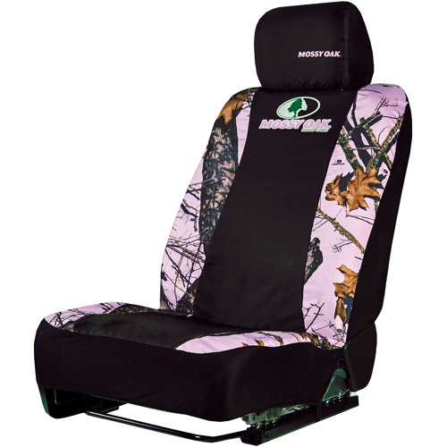Mossy Oak Pink Camouflage Low-Back Bucket Seat Cover