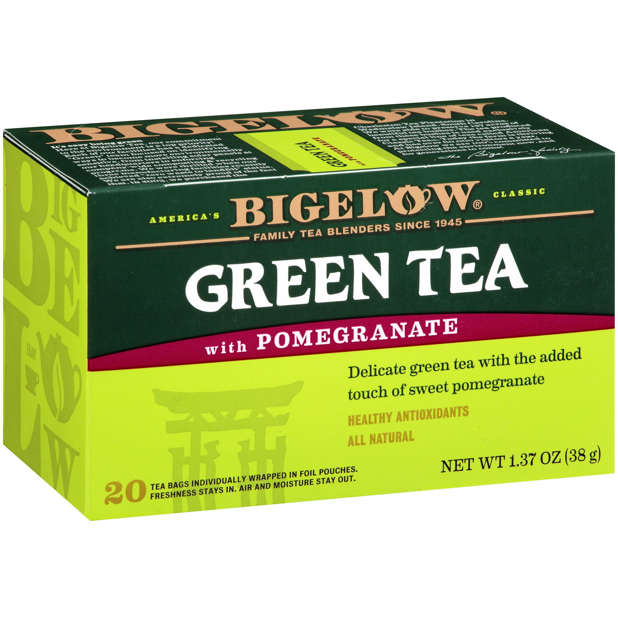 Bigelow Green Tea with Pomegranate 20 CT by RC Bigelow, Inc.