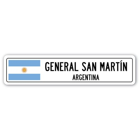 GENERAL SAN MARTON, ARGENTINA Street Sign Argentinian flag city country roa gift - Halloween Room 26 Roma