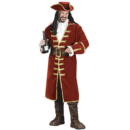 Pirate Captain Adult Halloween Costume - Skeleton Pirate Halloween Makeup