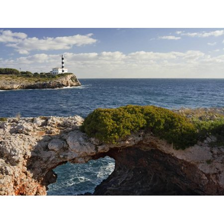 East Coast Lighthouses - Spain, Majorca, East Coast, Lighthouse of Portocolom, Punta De S'Homonet Print By Rainer Mirau