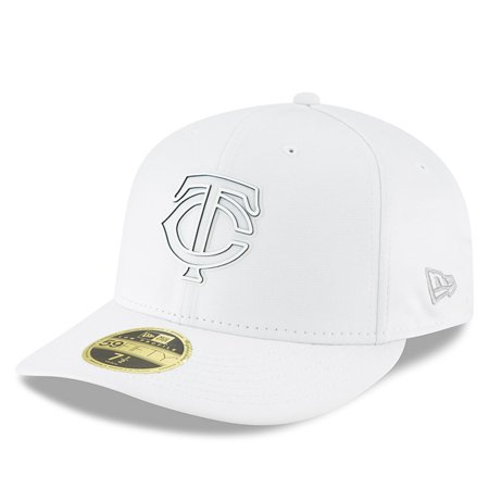3902b2d38a2 Minnesota Twins New Era 2018 Clubhouse Collection Low Profile 59FIFTY  Fitted Hat - White - Walmart.com