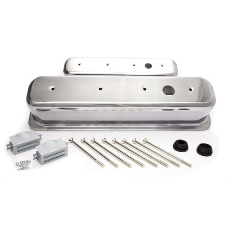 RACING POWER CO Aluminum Breather Holes Valve Covers SBC P/N