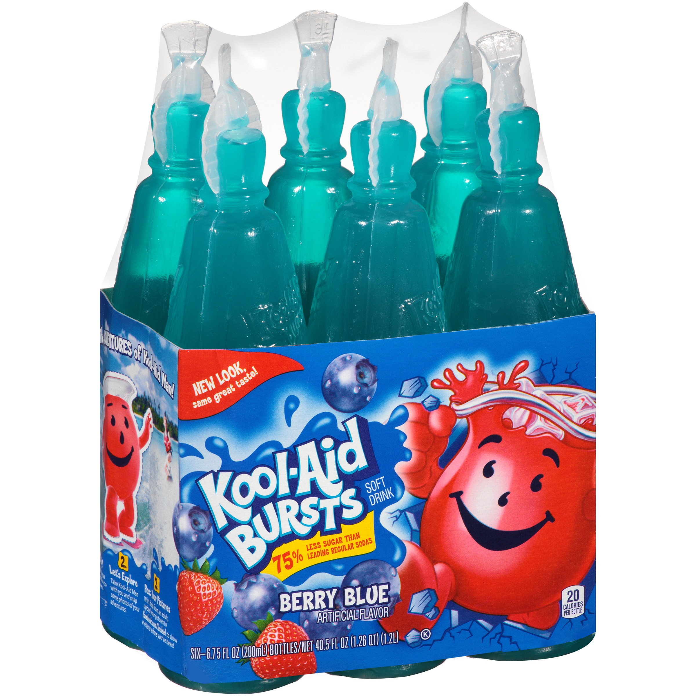 Kool Aid Bursts Fruit Juice Berry Blue 6 75 Fl Oz 6