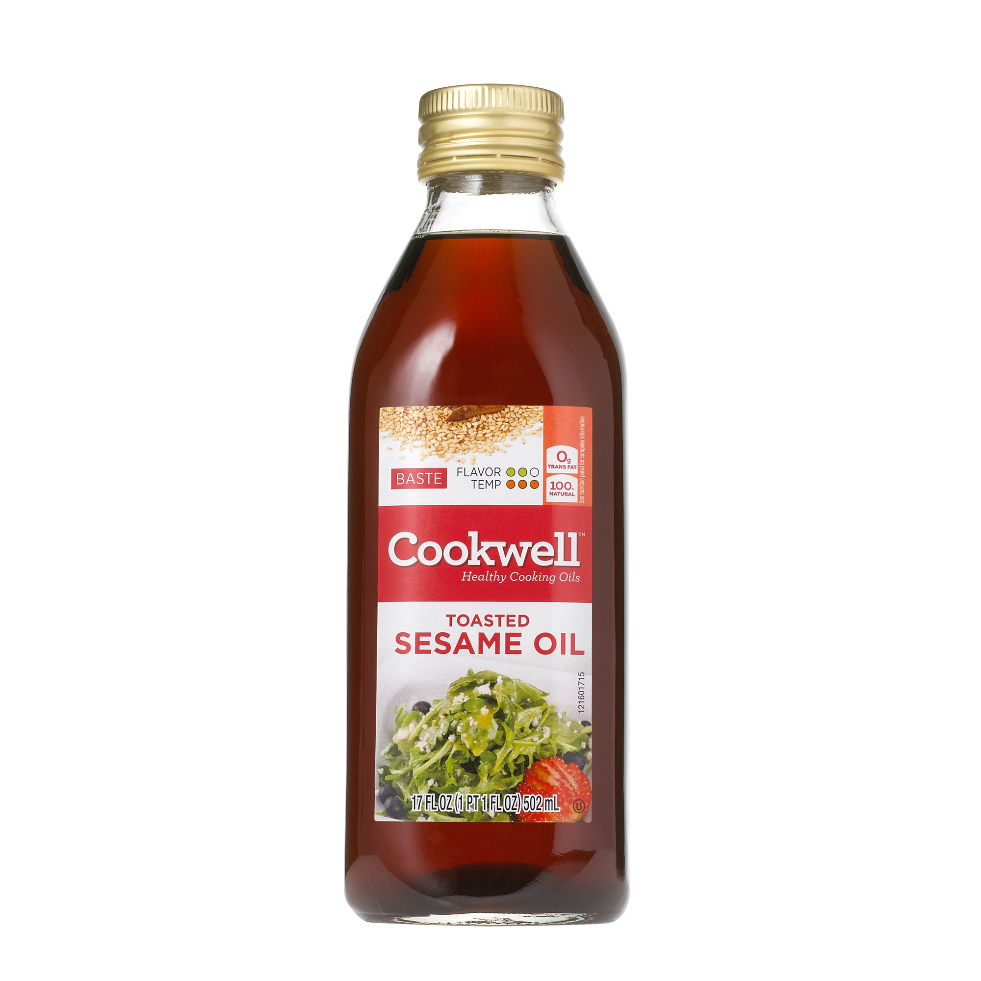 Cookwell Toasted Sesame Oil Oil for Sauteing and Basting, 17 Oz