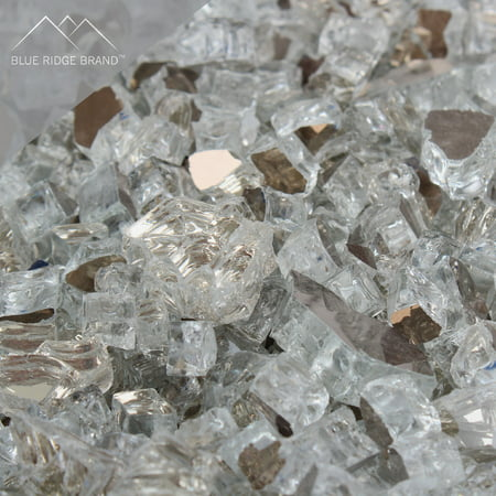 - Fire Pit Glass - Crystal Clear Reflective Fire Glass 1/2