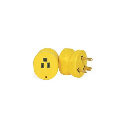 Camco 55233 30 AMP Male / 15 AMP Female Electrical PowerGrip