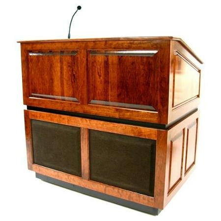 Amplivox Ambassador Solid Wood Lectern Sound System Mic  776 Product Photo