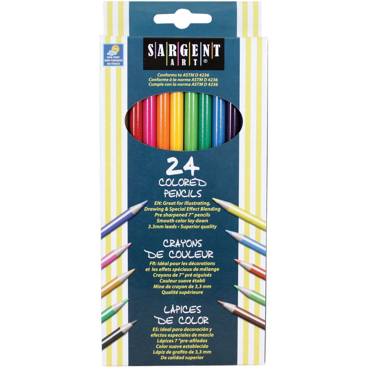 Sargent Art Colored Pencils 24/Pkg-