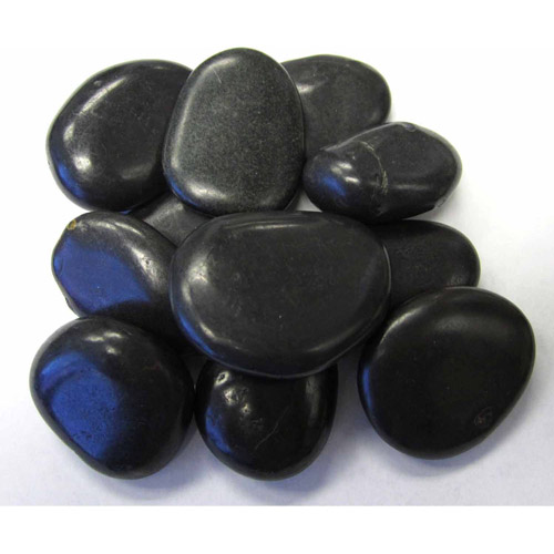 Exotic Pebbles & Aggregates Black Polished Pebbles, 5 lb