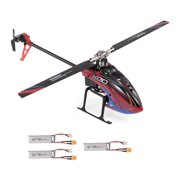 WLtoys XK K130-B RC Helicopter Brushless 3D6G Flybarless FUTABA S-FHSS Stunt Helicopter with 3 Battery NO Remote Controller BNF