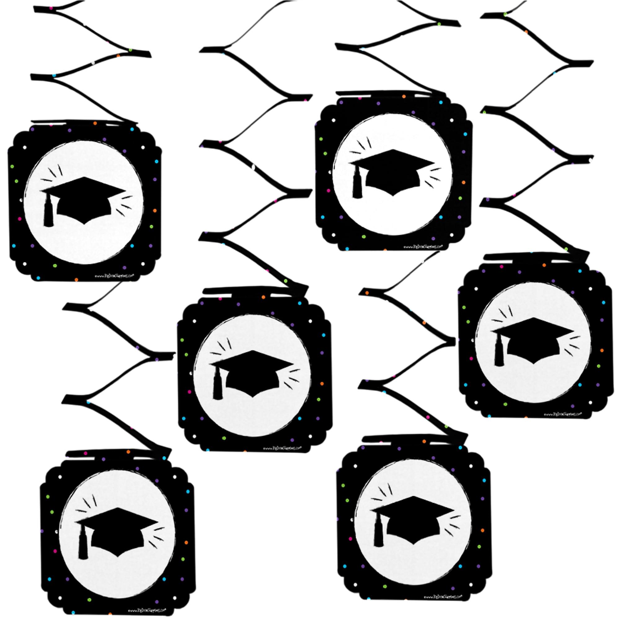 Hats Off Grad - Graduation Party Hanging Decorations - 6 Count